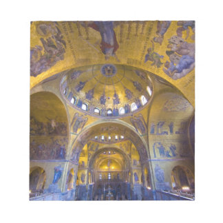 Italy, Venice. Interior of St. Marks Cathedral. Notepad