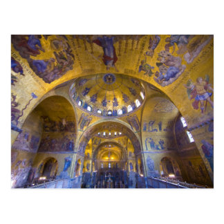 Italy, Venice. Interior of St. Marks Cathedral. Postcard