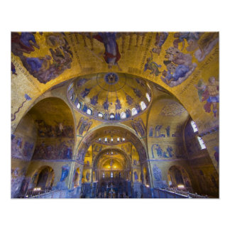 Italy, Venice. Interior of St. Marks Cathedral. Poster