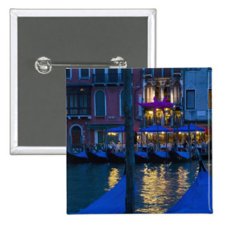 Italy, Venice, Night View Along the Grand 2 Inch Square Button