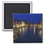 Italy, Venice, Night View Along the Grand 2 Fridge Magnet