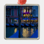 Italy, Venice, Night View Along the Grand Metal Ornament