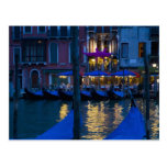 Italy, Venice, Night View Along the Grand Postcard