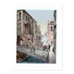 Italy Venice  Ponte Del Paradiso  1890's Postcard