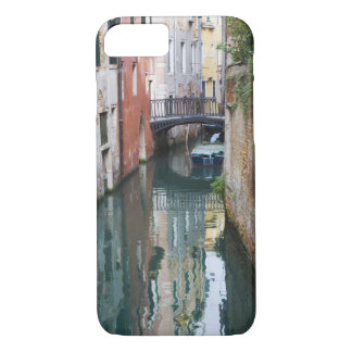 Italy, Venice, Reflections and Small Bridge of iPhone 7 Case