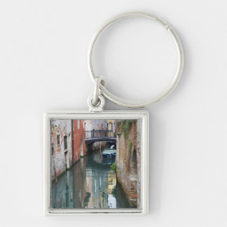 Italy, Venice, Reflections and Small Bridge of Keychain