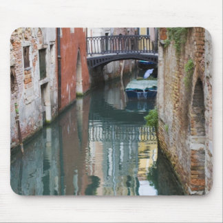 Italy, Venice, Reflections and Small Bridge of Mouse Pad