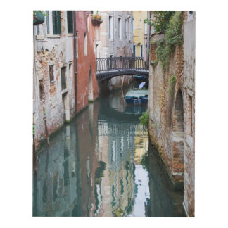 Italy, Venice, Reflections and Small Bridge of Panel Wall Art