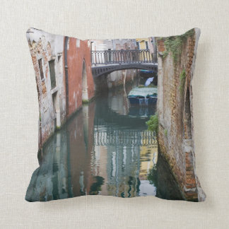 Italy, Venice, Reflections and Small Bridge of Pillow