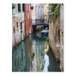 Italy, Venice, Reflections and Small Bridge of Postcard