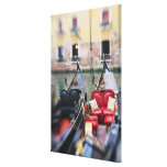 Italy, Venice, Selective Focus of Gondola in the 2 Canvas Print