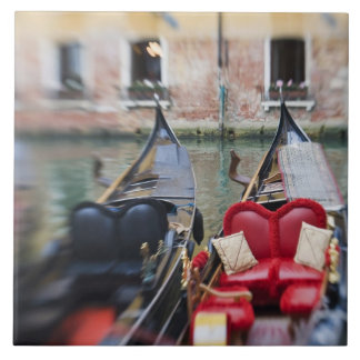 Italy, Venice, Selective Focus of Gondola in the 2 Ceramic Tile