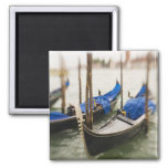 Italy, Venice, Selective Focus of Gondola in the 2 Inch Square Magnet