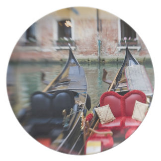 Italy, Venice, Selective Focus of Gondola in the 2 Party Plates