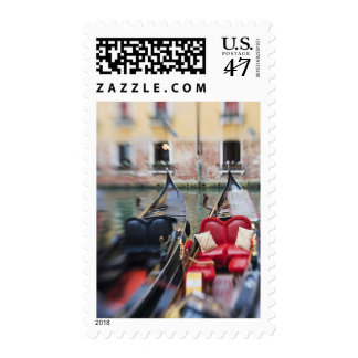Italy, Venice, Selective Focus of Gondola in the 2 Postage Stamp