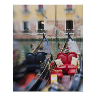 Italy, Venice, Selective Focus of Gondola in the 2 Posters