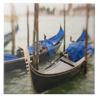 Italy, Venice, Selective Focus of Gondola in the Ceramic Tile