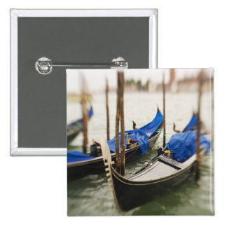 Italy, Venice, Selective Focus of Gondola in the Pinback Button