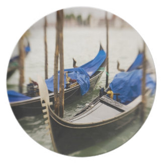 Italy, Venice, Selective Focus of Gondola in the Party Plate