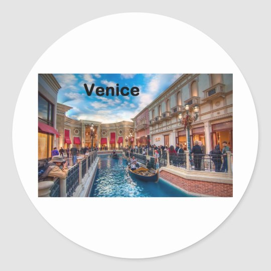 Italy Venice (St.K) Classic Round Sticker
