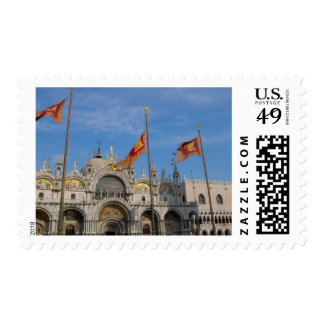 Italy, Venice, St. Mark's Basilica in St. Mark's Postage Stamp