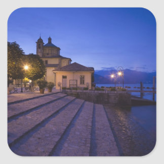Italy, Verbano-Cusio-Ossola Province, Cannobio. Square Sticker