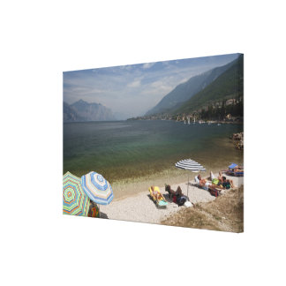 Italy, Verona Province, Brenzone. Lake Garda Canvas Print