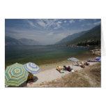 Italy, Verona Province, Brenzone. Lake Garda Greeting Card