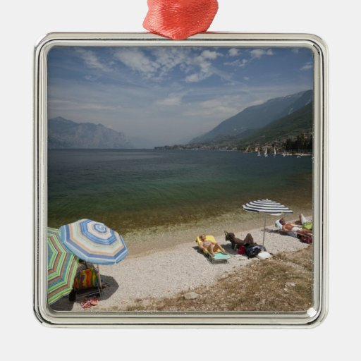Italy, Verona Province, Brenzone. Lake Garda Christmas Tree Ornament