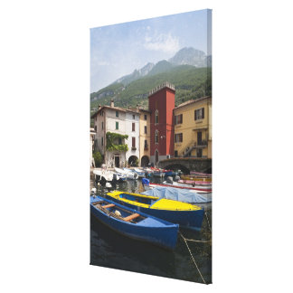 Italy, Verona Province, Malcesine. Cassone old 2 Canvas Print