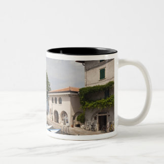 Italy, Verona Province, Malcesine. Cassone old Two-Tone Coffee Mug
