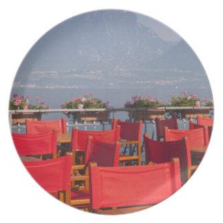 Italy, Verona Province, Torri del Benaco. Party Plates