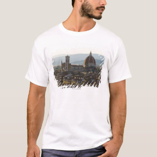 Italy, View of Florence with Basilica di Santa T-Shirt