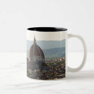 Italy, View of Florence with Basilica di Santa Two-Tone Coffee Mug
