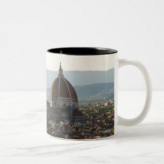 Italy, View of Florence with Basilica di Santa Two-Tone Coffee Mug