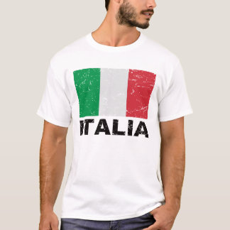 Italy Vintage Flag T-Shirt