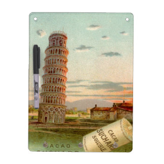 Italy - Vintage Leaning tower of Pisa Dry-Erase Board