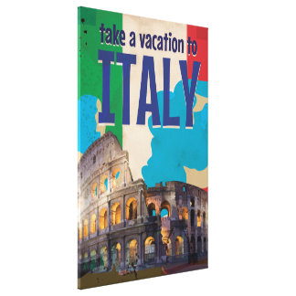 Italy Vintage Travel poster Canvas Print