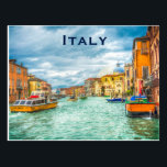 """Italy Vintage Travel Tourism Add Postcard<br><div class=""""desc"""">It is beautiful artistic painted of Italy. It is best advertisement for travel to Italy. This is Italy,  Europe vintage travel postcards,  stunning vintage art post card.</div>"""