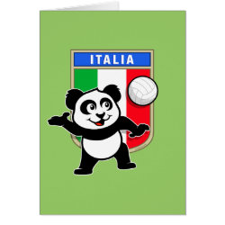 Note Card with Italian Volleyball Panda design