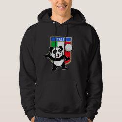 Men's Basic Hooded Sweatshirt with Italian Volleyball Panda design