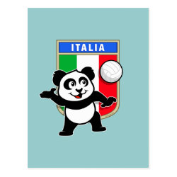 Postcard with Italian Volleyball Panda design