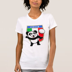 Italian Volleyball Panda Women's American Apparel Fine Jersey Short Sleeve T-Shirt