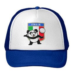 Trucker Hat with Italian Volleyball Panda design