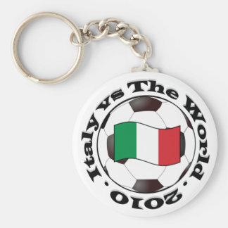 Italy vs The World Basic Round Button Keychain