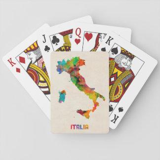 Italy Watercolor Map Italia Card Deck