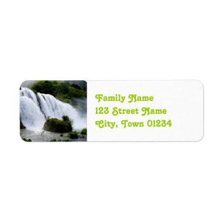 Italy Waterfall Return Address Label
