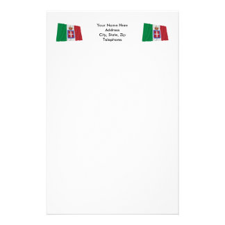 Italy Waving Flag (1861-1946) Personalized Stationery