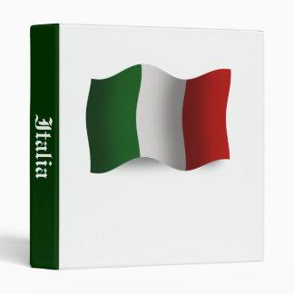 Italy Waving Flag 3 Ring Binder