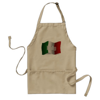 Italy Waving Flag Adult Apron